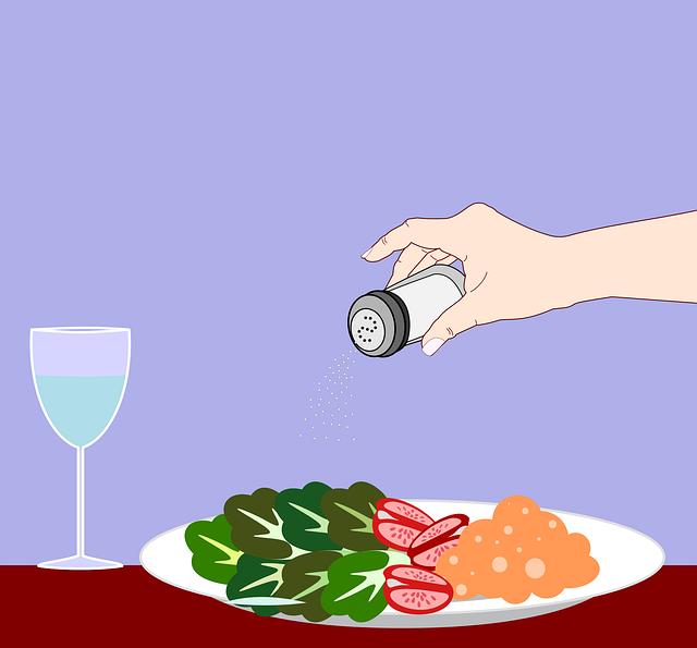 Consumo moderado de sal