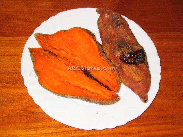 Boniatos asados (batatas asadas)