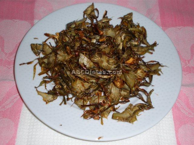 Receta de chips de alcachofas