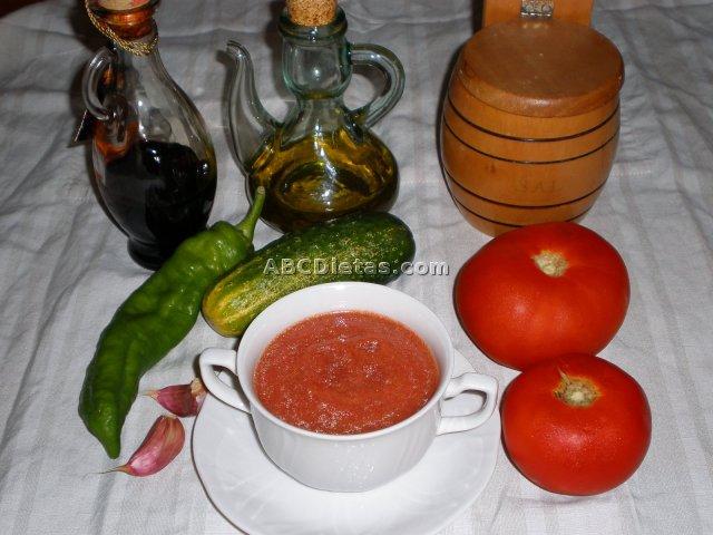 Receta de Gazpacho andaluz, ¡muy nutritivo!
