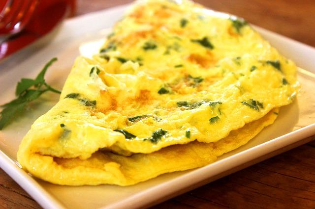 Receta de jamón ibérico en tortilla francesa