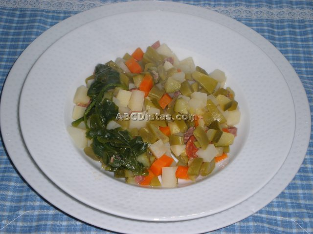 estofado o menestra de verduras
