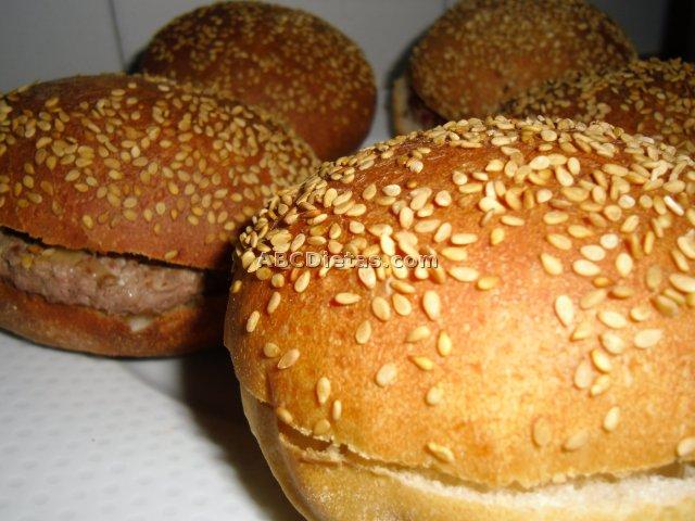 panecillos para hamburguesas